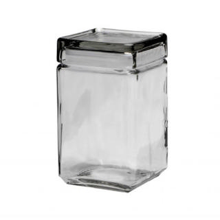 ANCHOR HOCKING GLASS JAR WITH GLASS LID 1.5qt/48oz