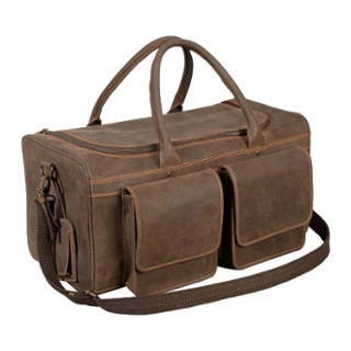 4TH GENERATION LEATHER DUFFLE BAG BROWN