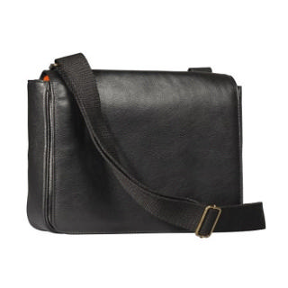 4TH GENERATION LEATHER MESSENGER BAG KENKO BLACK